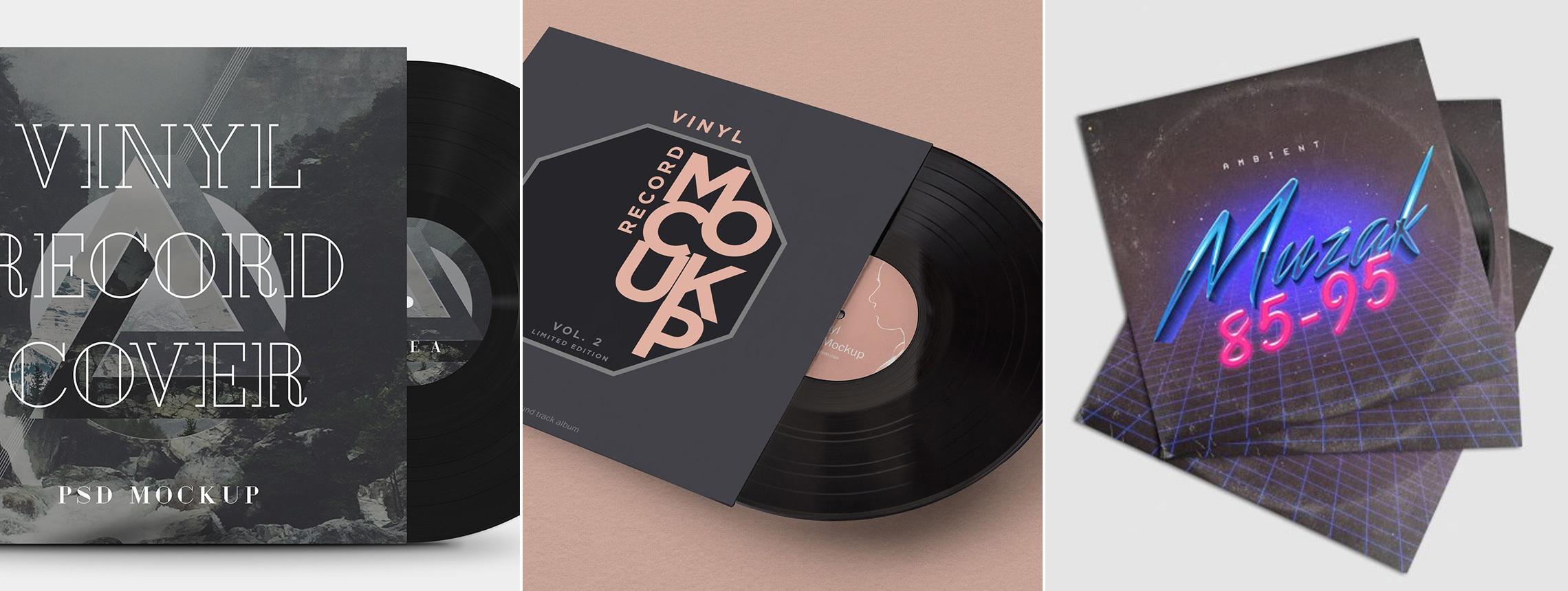 22 Vinyl Mockups — it's Record Time