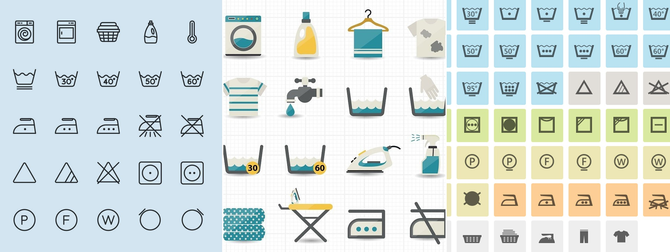 14 Washing Instruction Symbol and Icon Downloads for Manuals and Labels