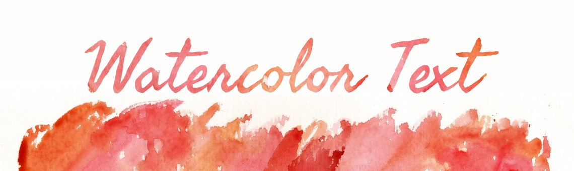 Quick Tip: Create a Watercolor Text Effect in Adobe Illustrator