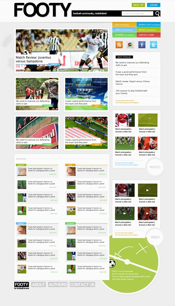 Converting a clean magazine-style PSD template to HTML/CSS