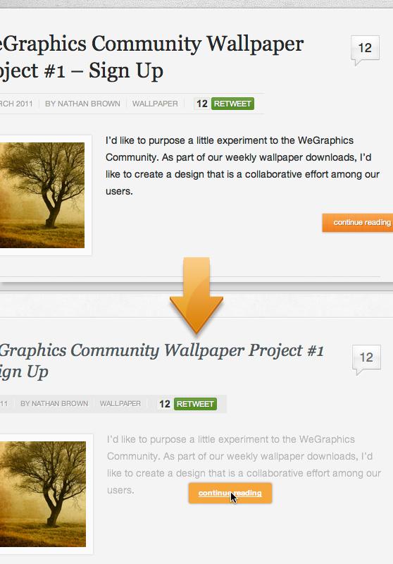WeGraphics re-design process