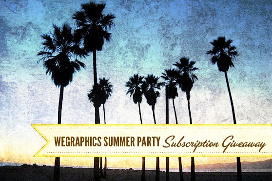 Summer Party Giveaway: Win a FREE One Year Subscription to WeGraphics!