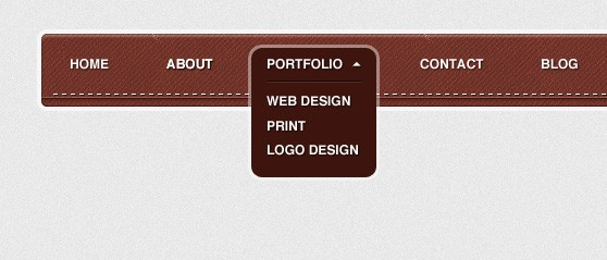 Design and code a textured navigation menu