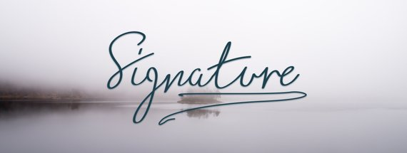 20 Signature Fonts that are Beautiful and Authentic — Medialoot