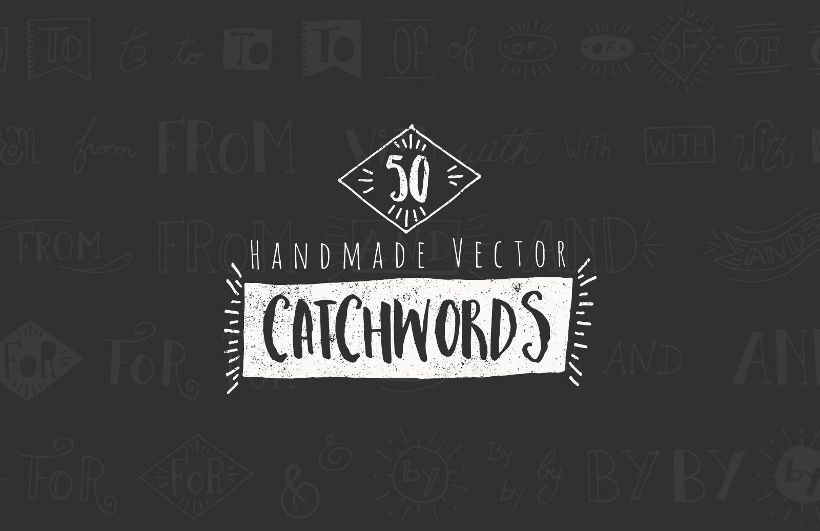 50 Hand Drawn Catchwords & Ampersands 1