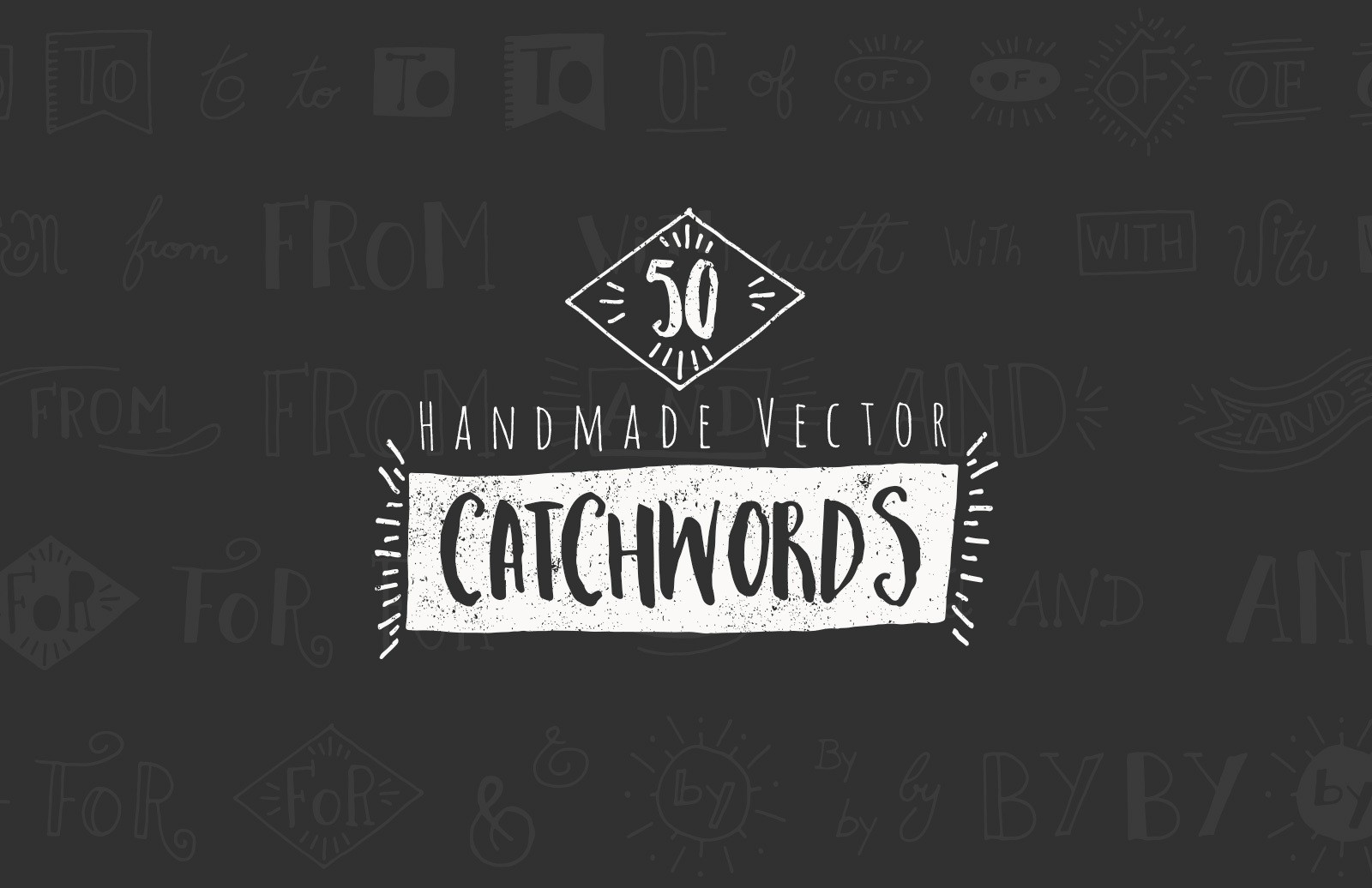 50 Hand Drawn Catchwords & Ampersands