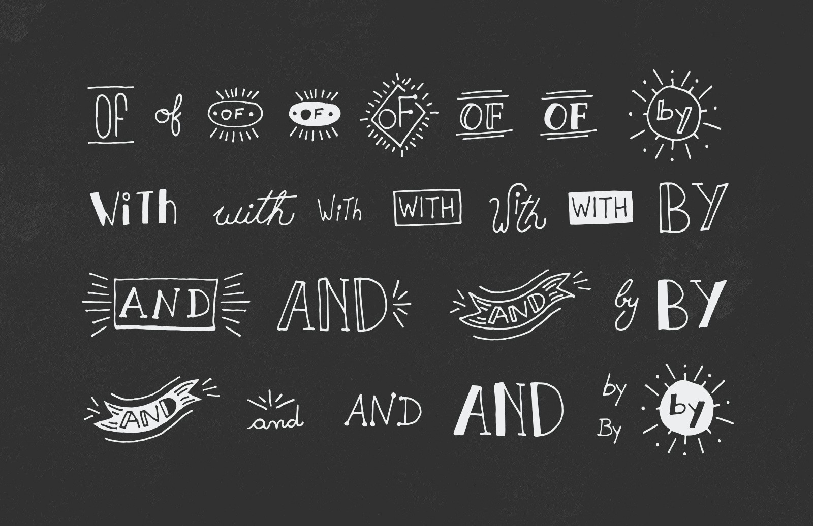 Large 50 Handmade Vector Catchwords Preview 2