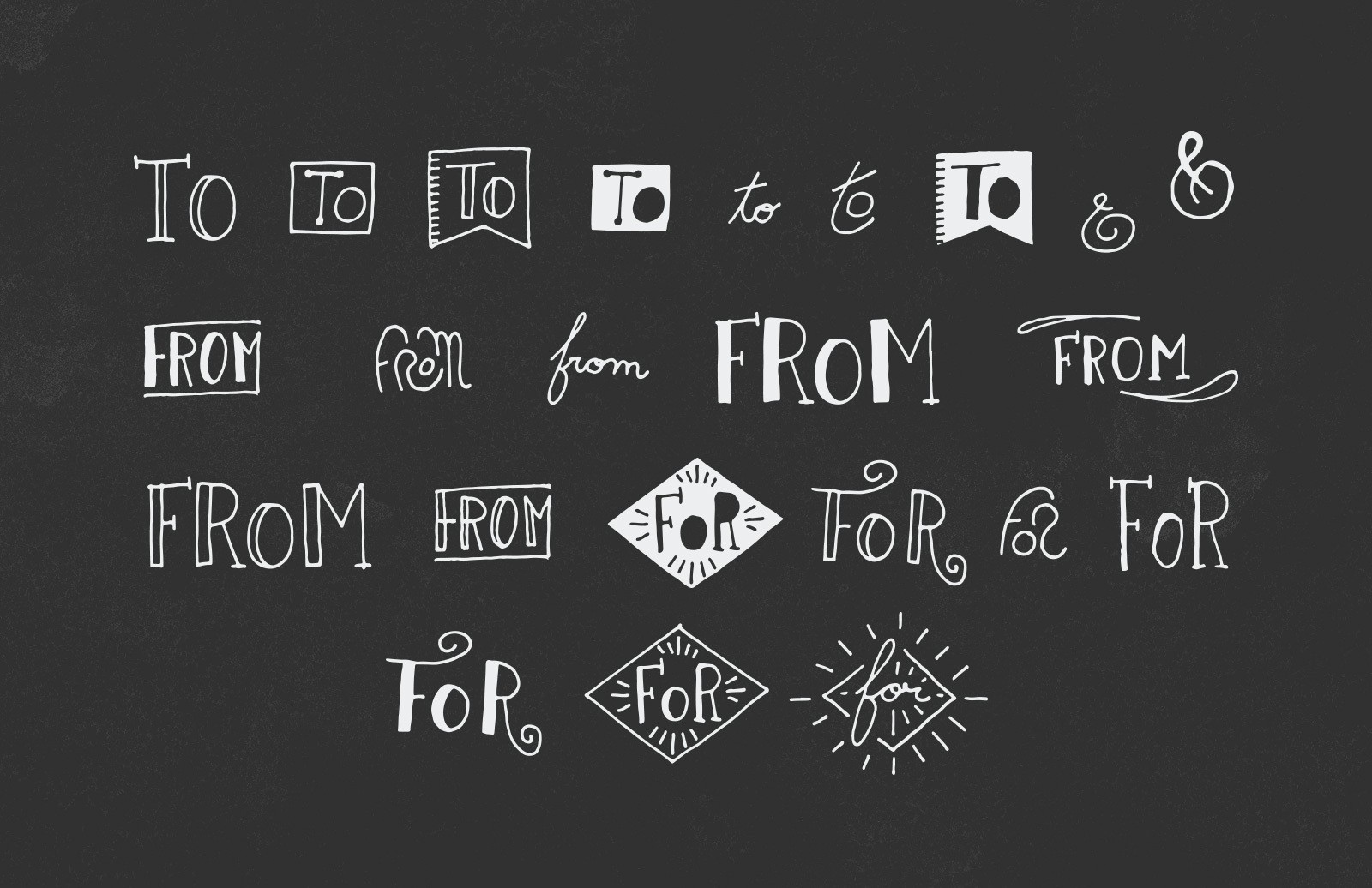 Large 50 Handmade Vector Catchwords Preview 3
