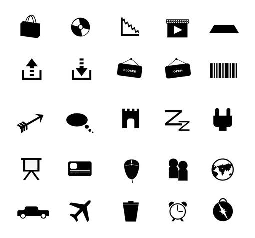 Large 510 Flat Icons Part 5