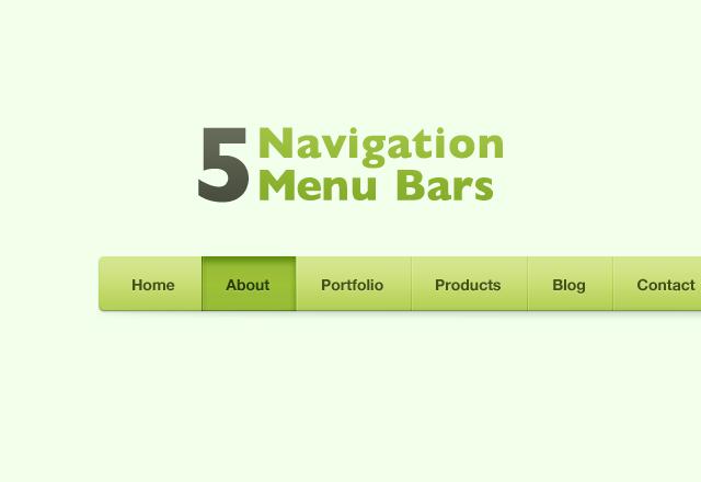 5 CSS Navigation Menu Bars