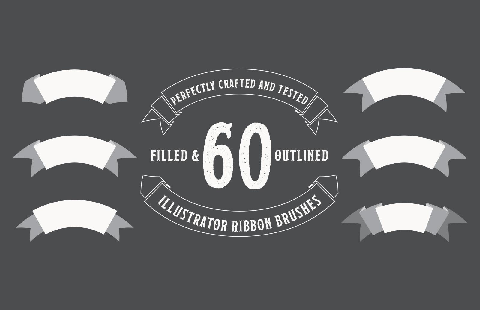 60 Illustratot Ribbon Brushes Preview 1