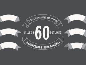 60 Illustrator Ribbon Brushes 1