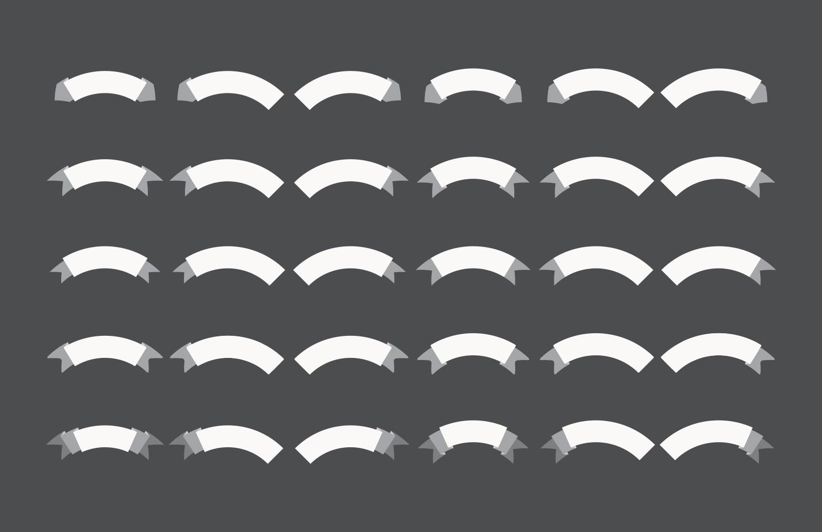 60 Illustrator Ribbon Brushes