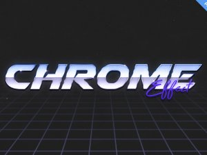 80s Chrome Text Effect 2