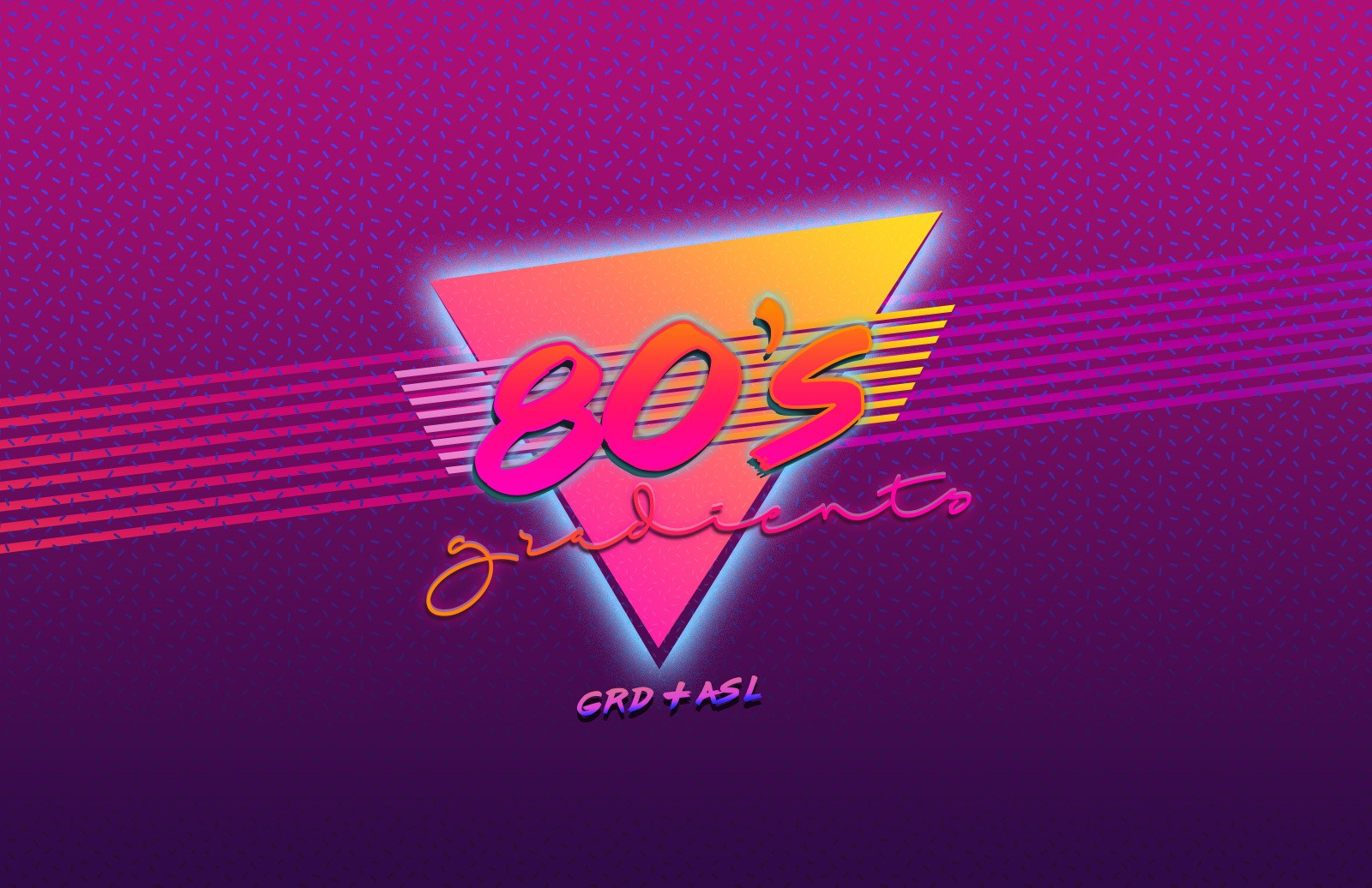 Retro 80s Gradients for Photoshop