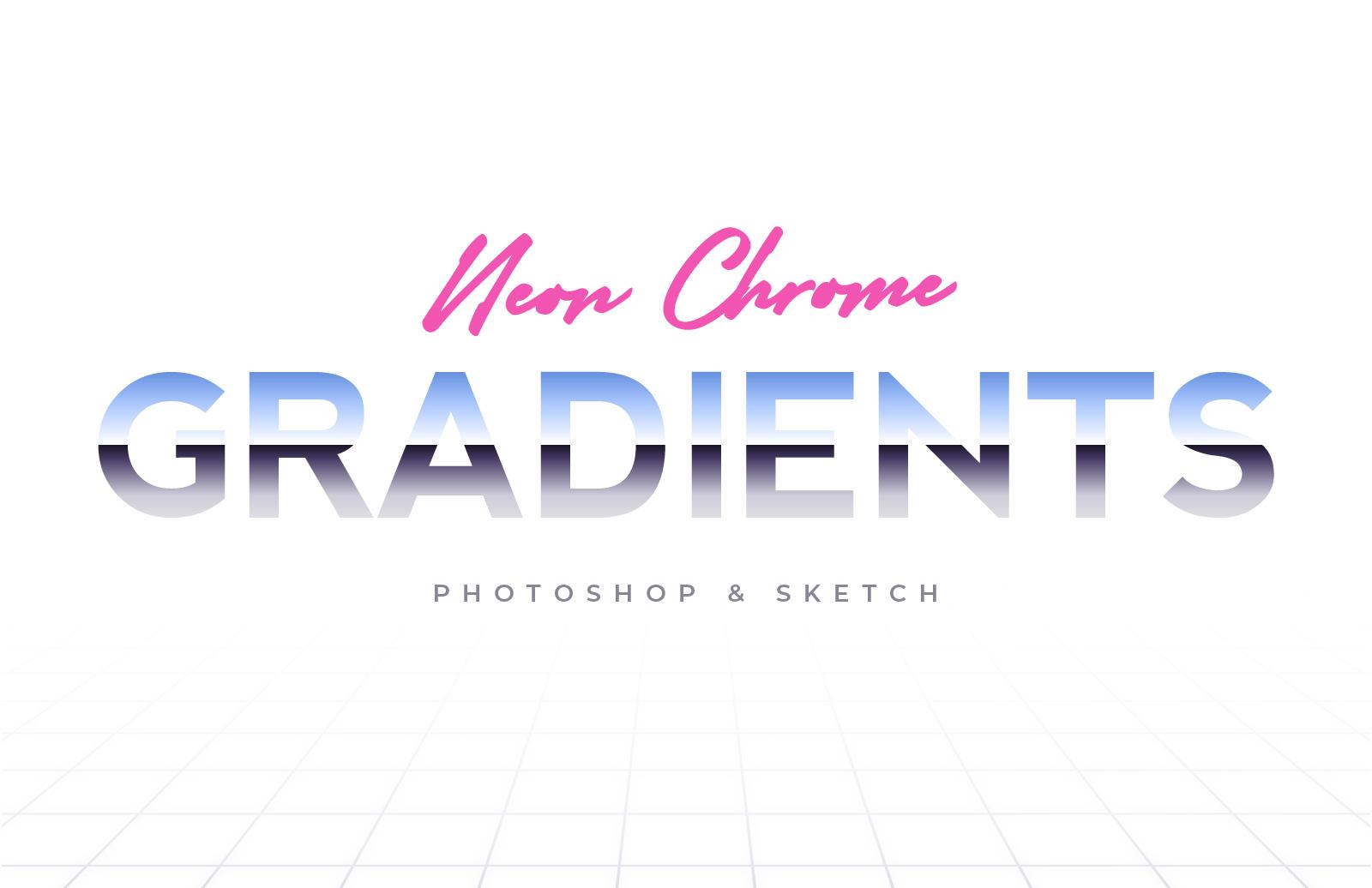 80S Neon Chrome Gradients Preview 1