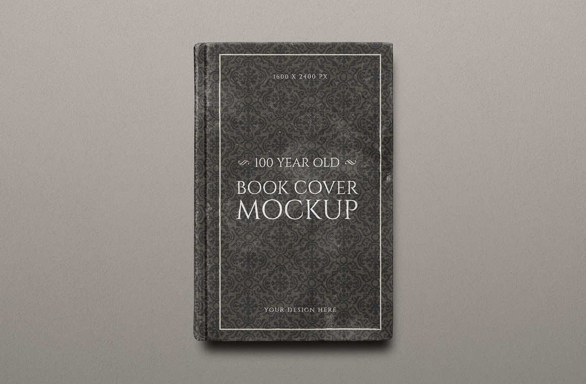 100 Year Old Book Cover Mockup