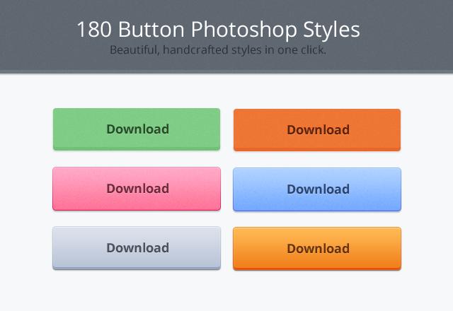 180 Button Photoshop Styles