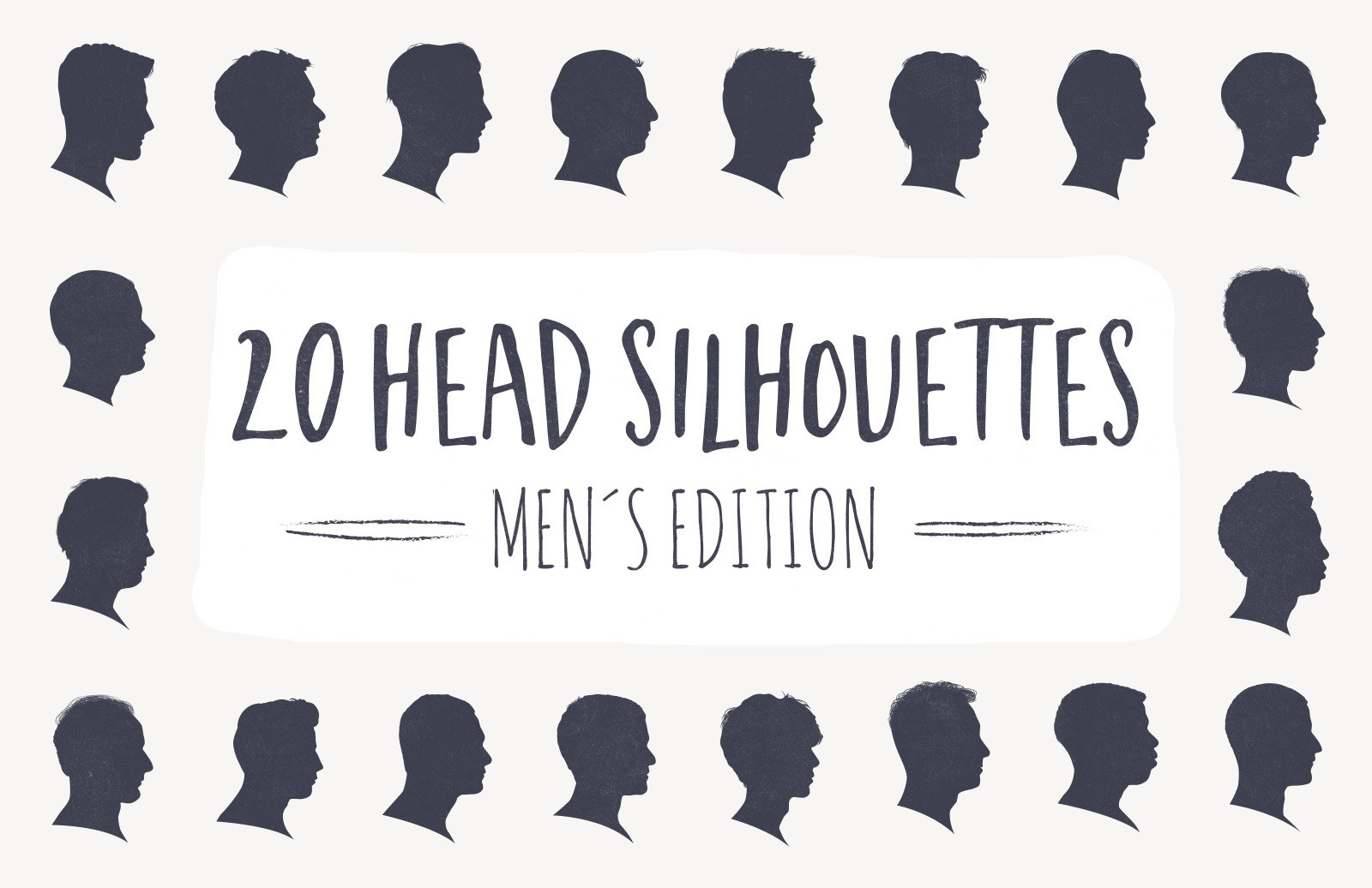 Large 20 Head Silhouettes Men Edition Preview 1