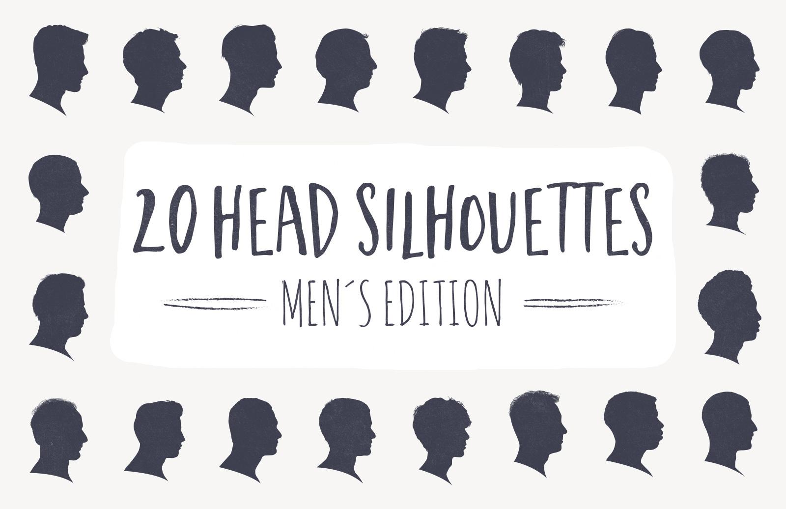 20 Head Silhouettes - Men Edition