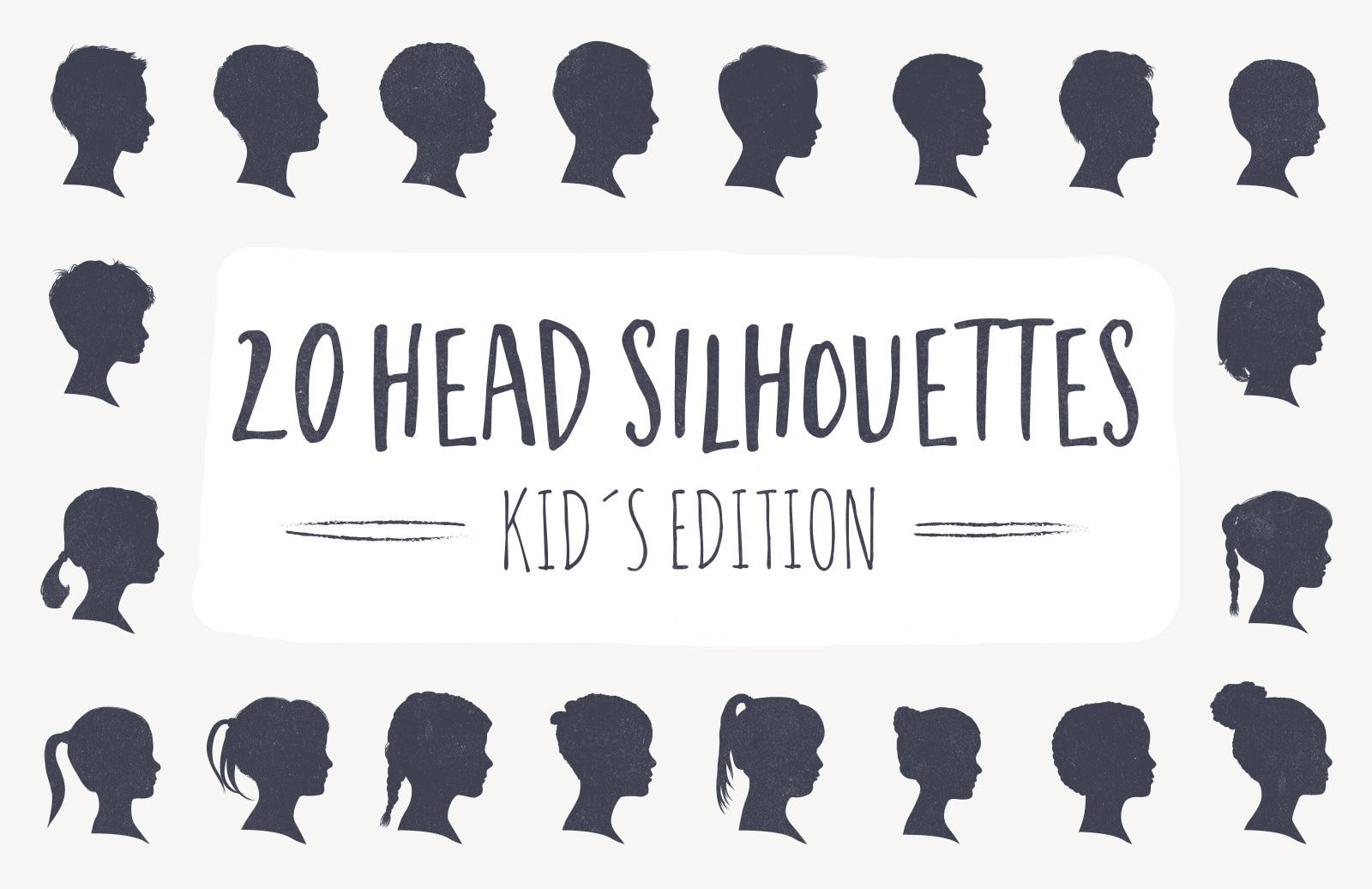 20 Head Silhouettes - Kids Edition
