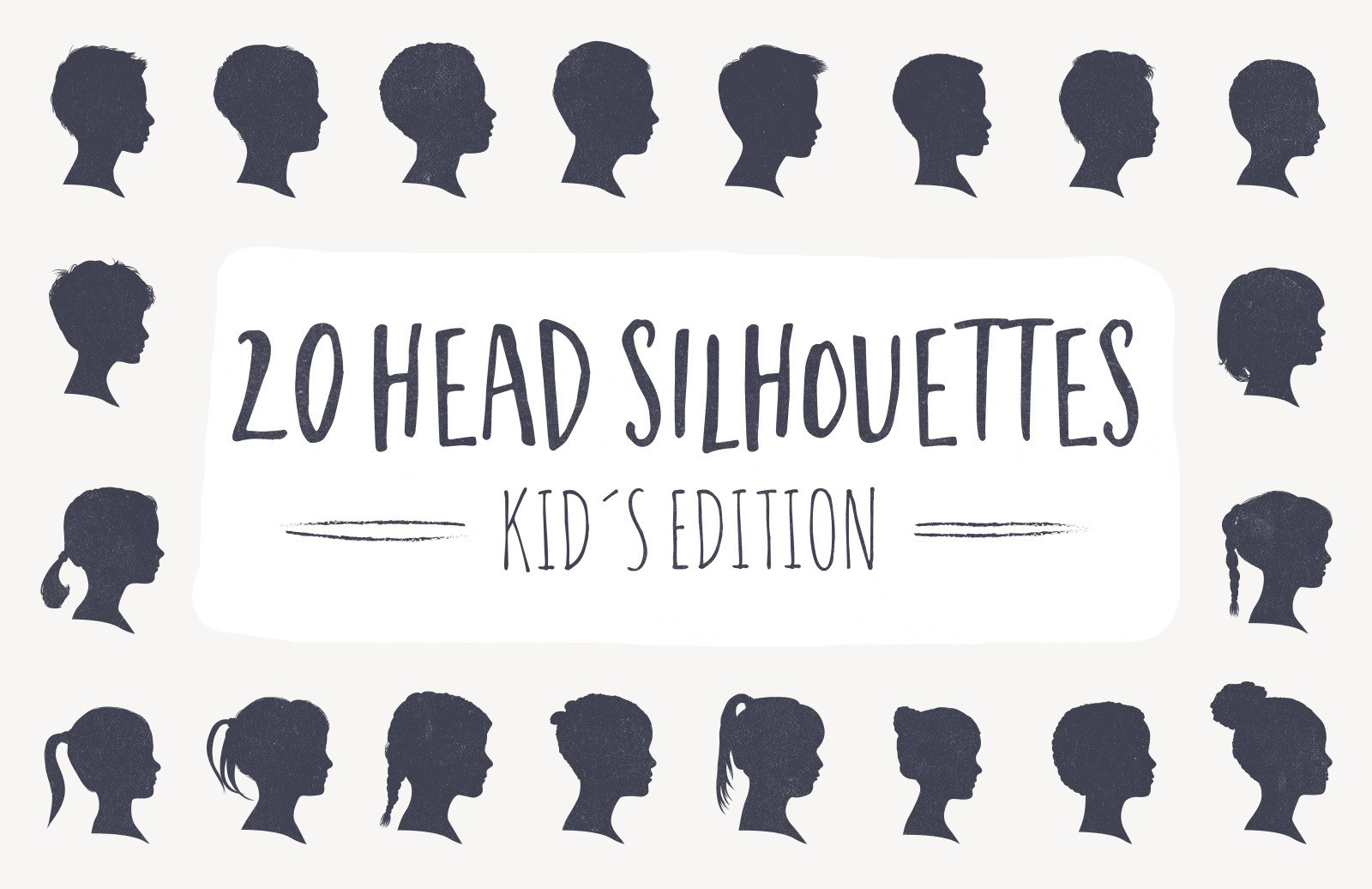 20 Head Silhouettes Kids Edition Preview 1