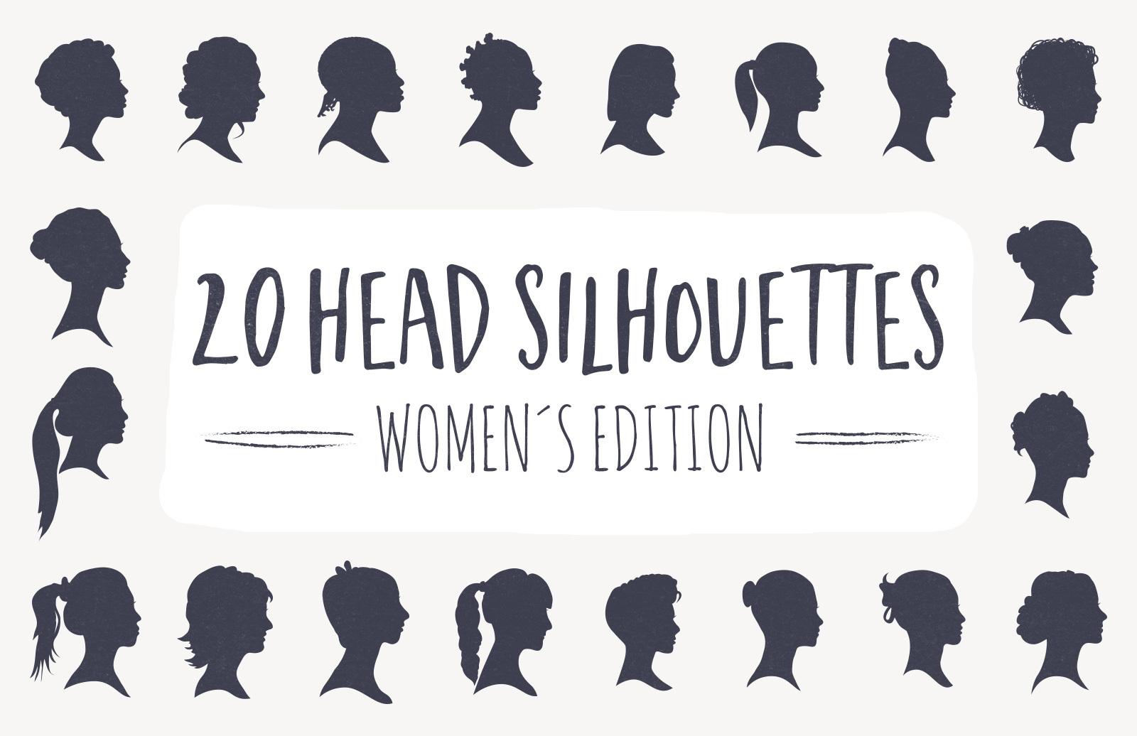 20 Head Silhouettes - Women Edition