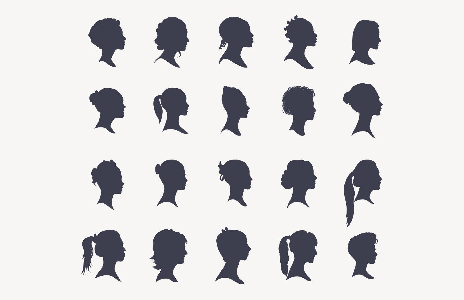Large 20 Head Silhouettes Women Edition Preview 2