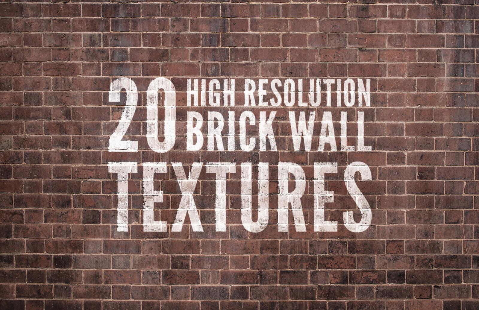 20 High Resolution Brick Wall Textures