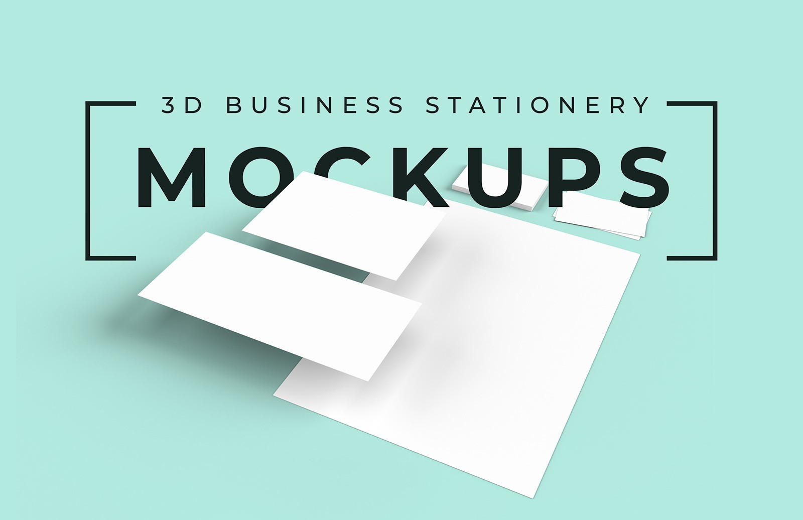 3 D Business Stationery Mockups Preview 1