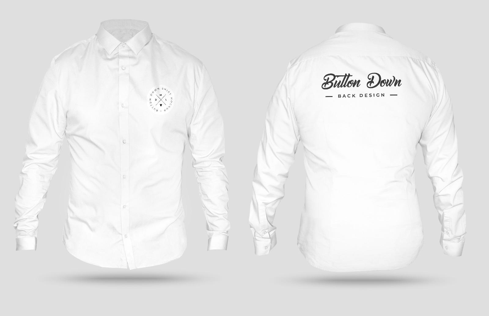 3 D Button Down Shirt Mockup Preview 1