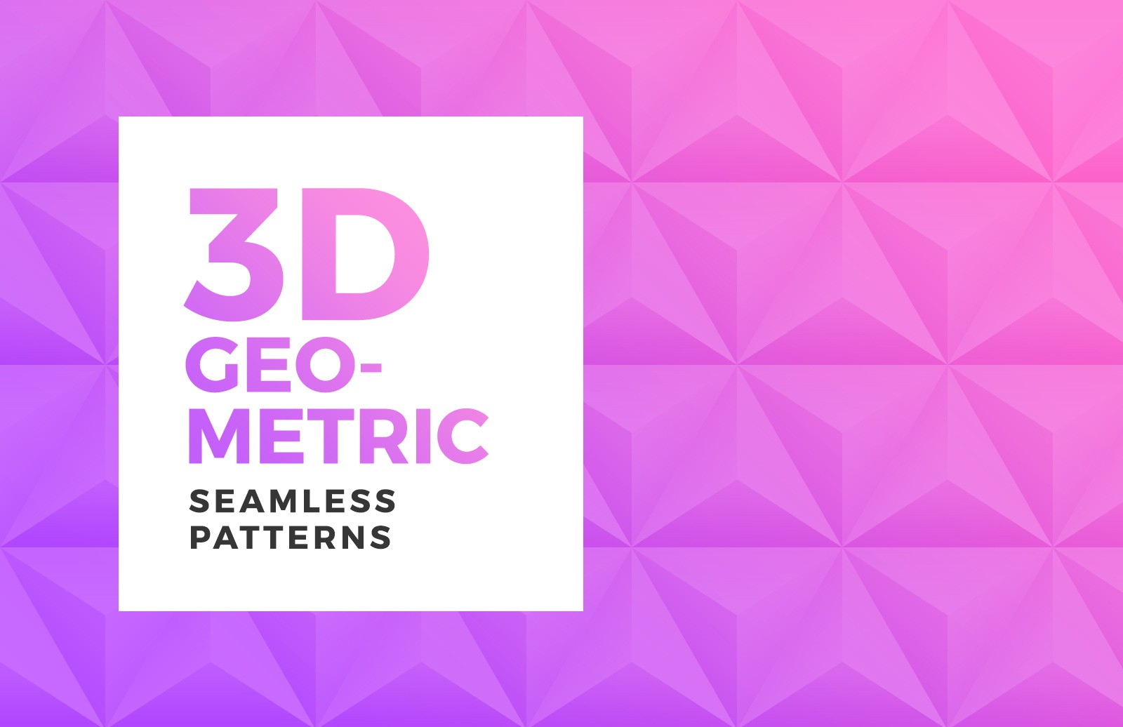 3 D Geometric Seamless Patterns Preview 1