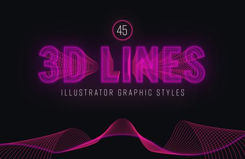 3D Lines: Illustrator Graphic Styles