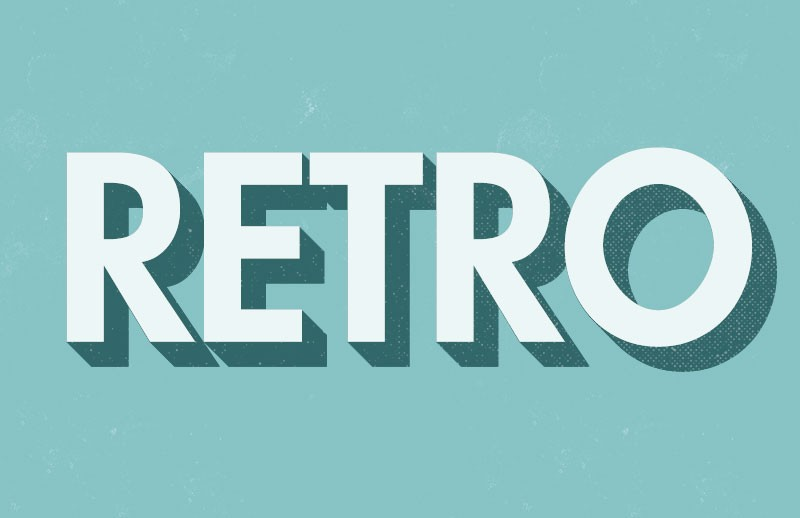 3D Retro Text Effect Actions