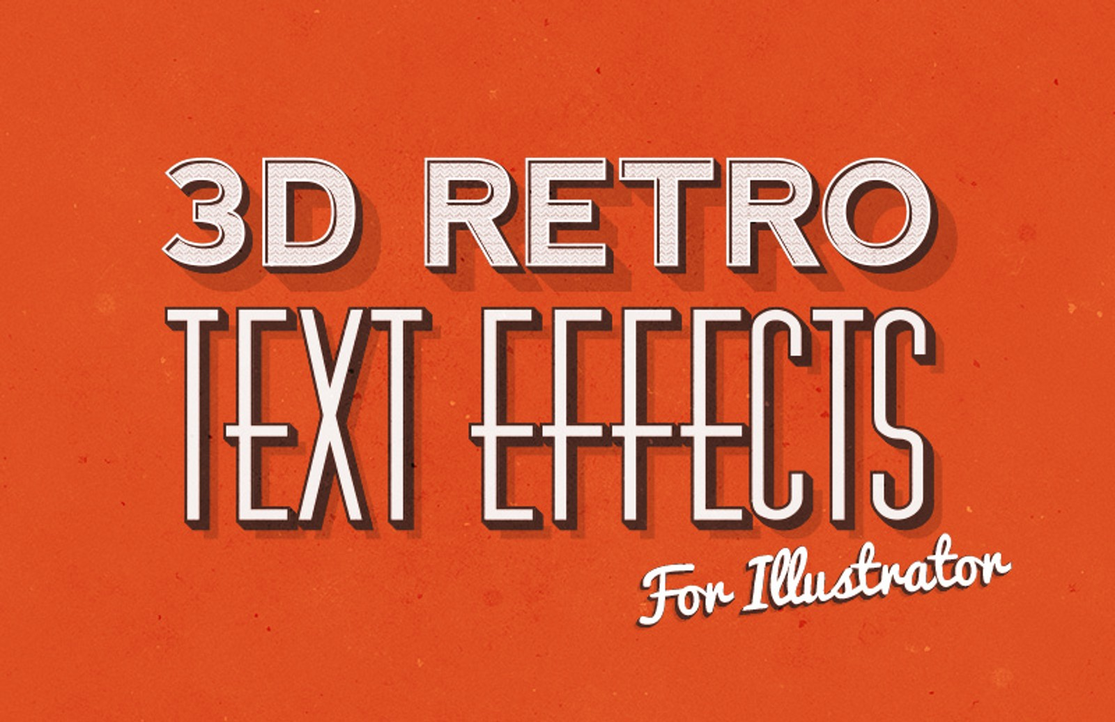 3 D  Retro  Text  Effects  Illustrator  Preview 1