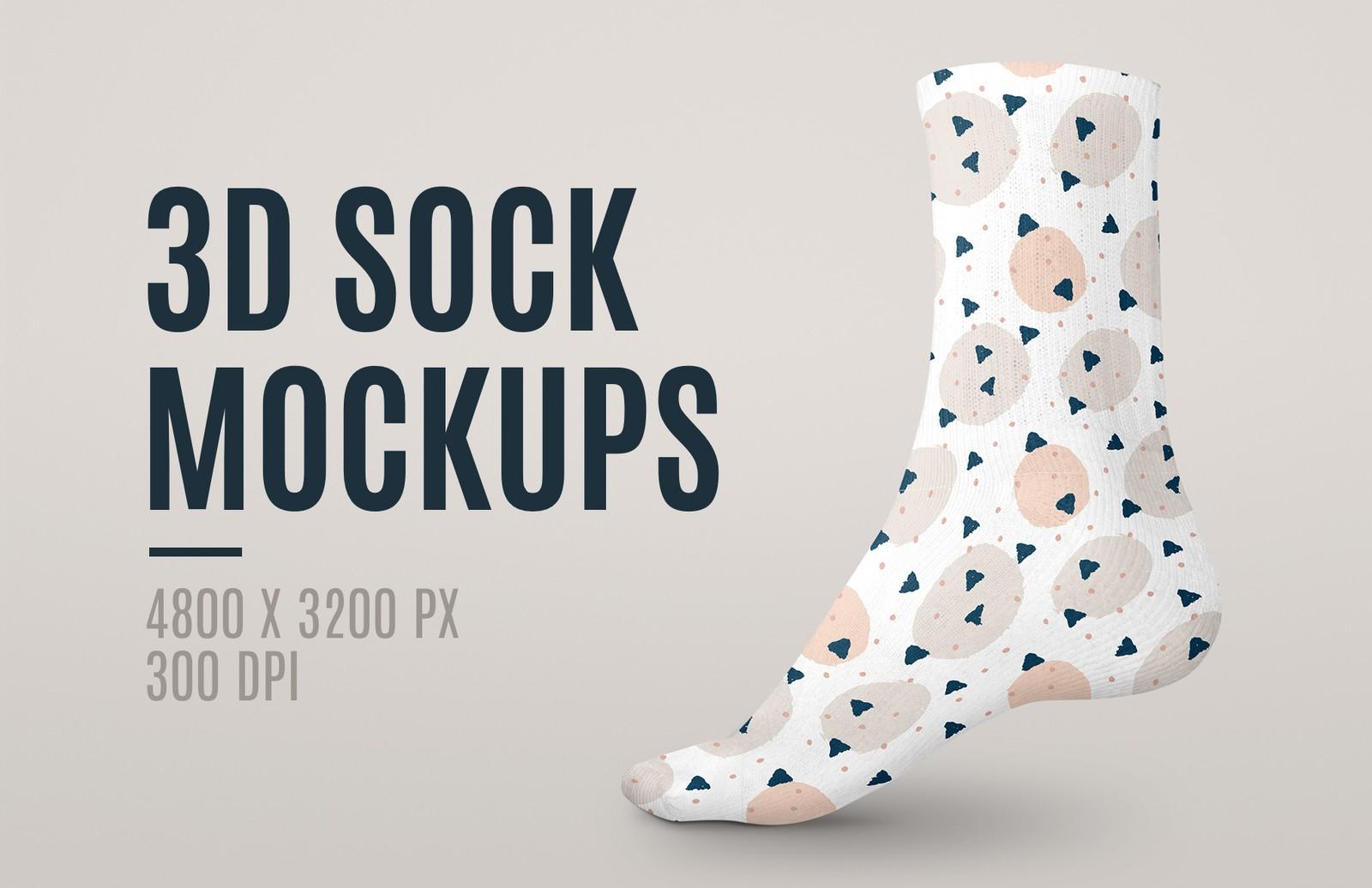 3 D Sock Mockups Preview 1