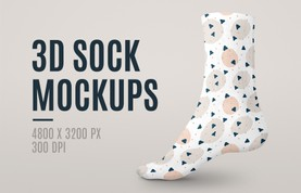 3D Sock Mockups
