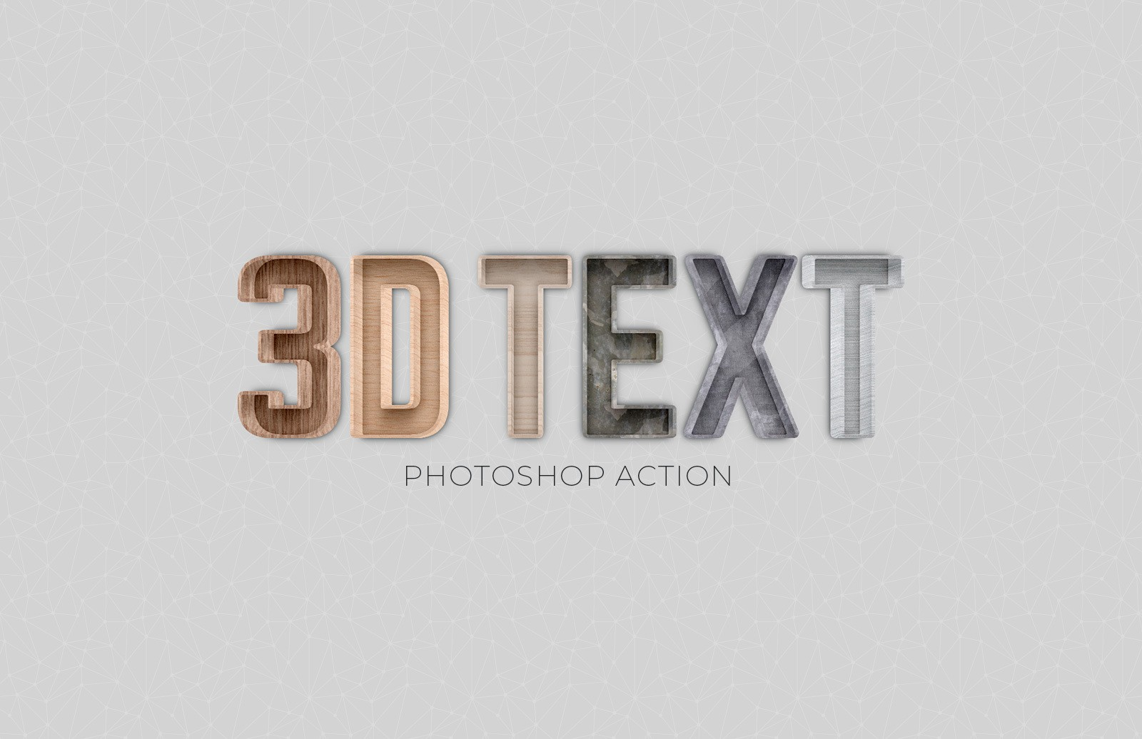 3D Text Photoshop Action