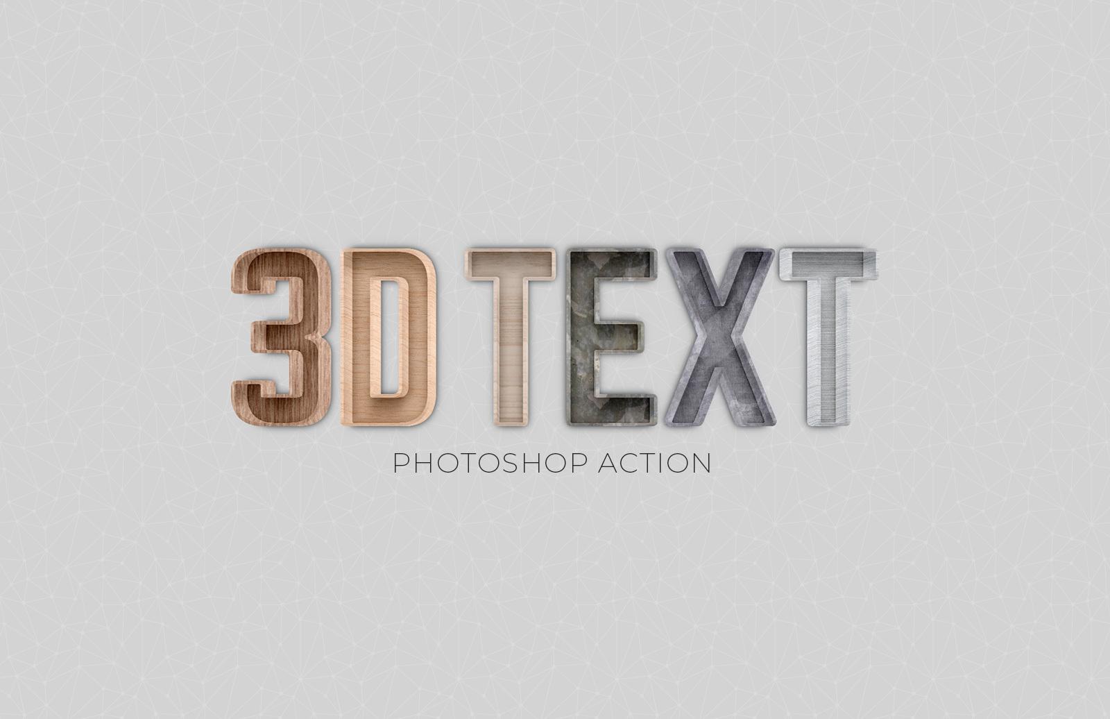 3 D Text Photoshop Action Preview 1