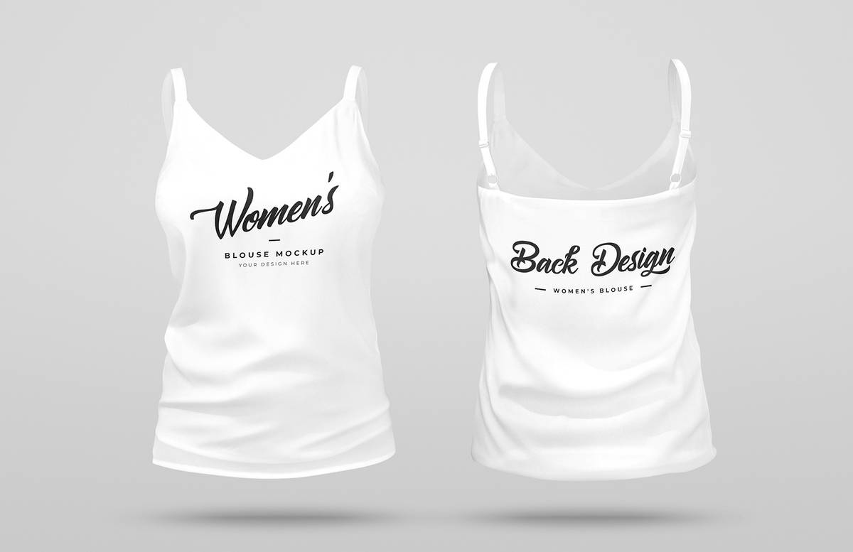 3 D Womens Blouse Mockup Preview 1