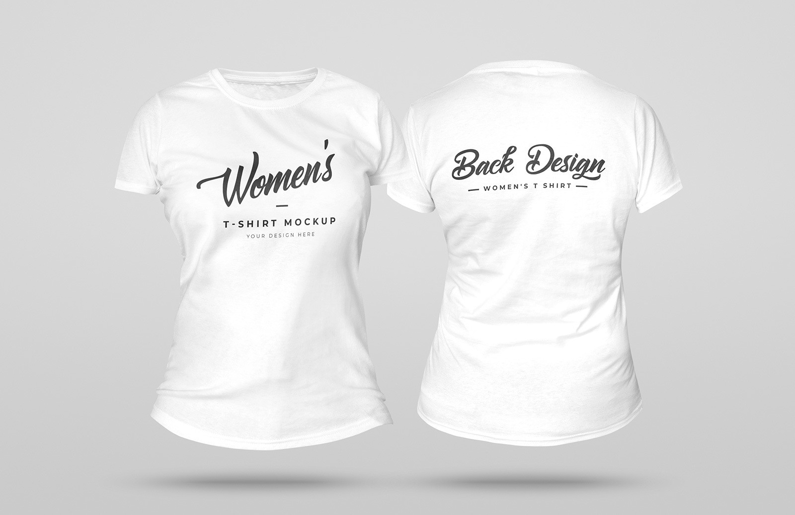 3 D Womens T Shirt Mockup Preview 1