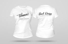 3D Women's T-Shirt Mockup