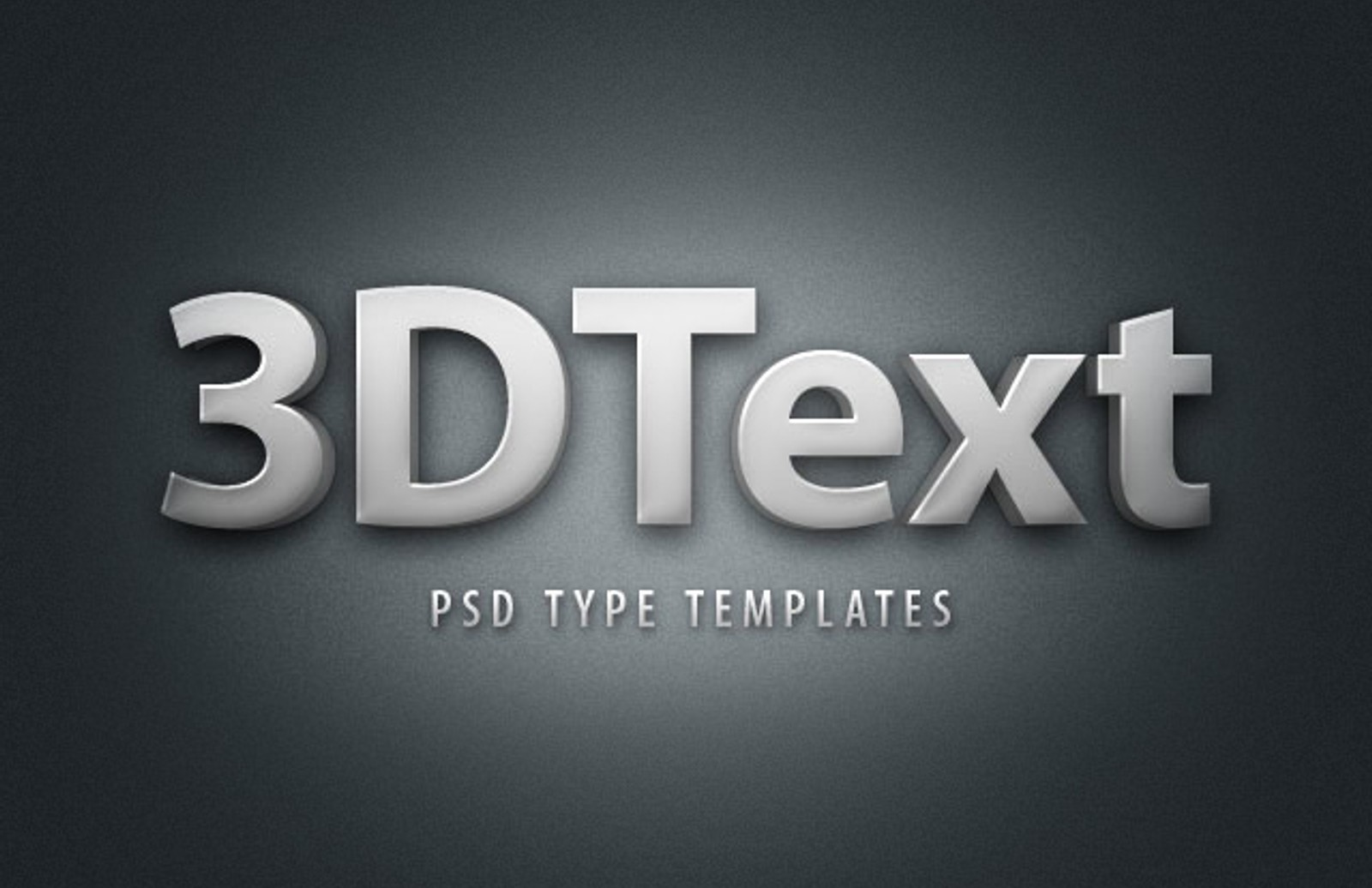 3 D  Text  Styles  Preview1
