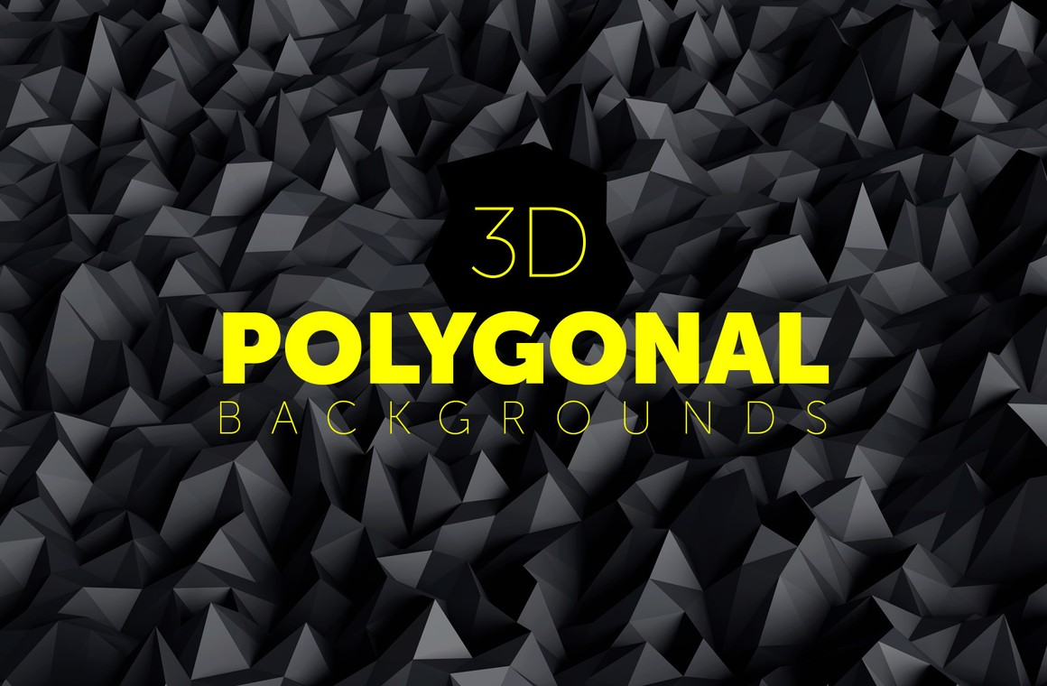 3D Polygonal Backgrounds