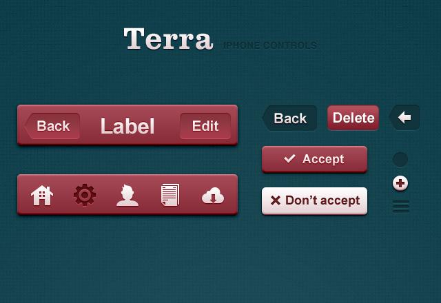 Terra iPhone Retina App Controls