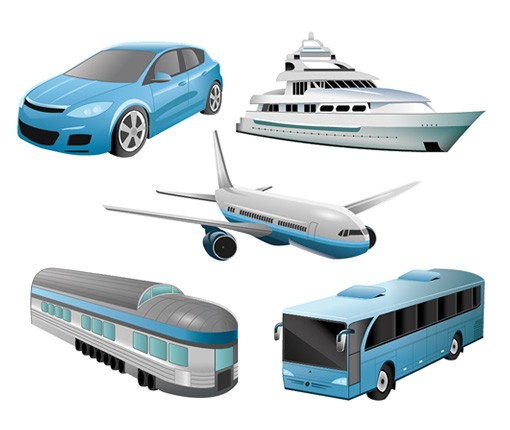 Travel And Transportation Vector Set