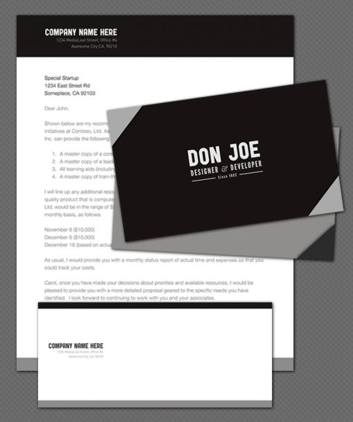 Typographe - Stationery Pack