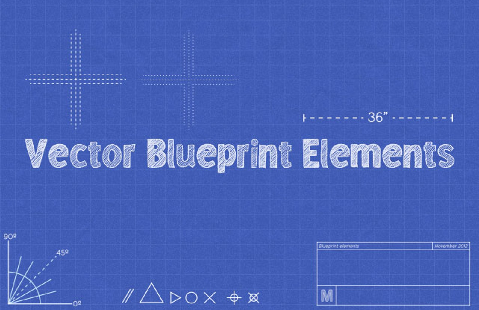 Vector blueprint elements medialoot vector blueprint preview 1 malvernweather Images
