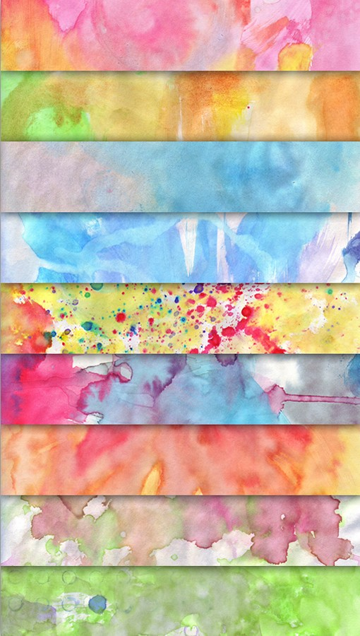 Hand-Painted Watercolor Textures