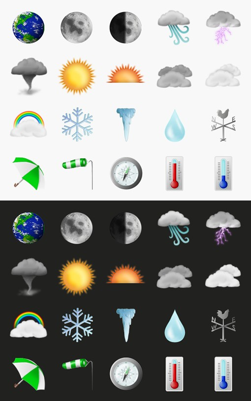 Weather Icons Preview